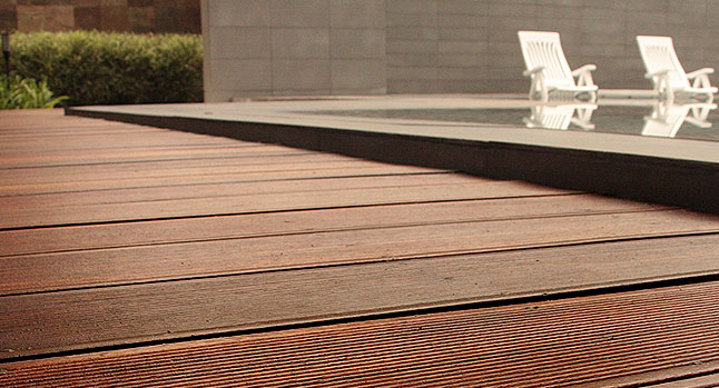 Wood flooring decking sports flooring in the philippines for Hardwood outdoor decking